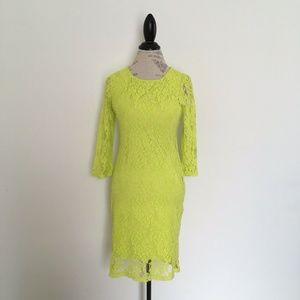 Spense Floral Lace Overlay Sheath Dress Size 8P